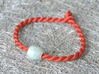 最简单的儿童手链编织教程 简单的双蝶结的编法