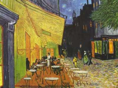 梵高名画夜间咖啡馆暗藏玄机 梵高夜晚的咖啡馆高清