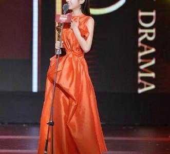 以前觉得高圆圆穿橘色礼服是最美的 赵丽颖橙色礼服