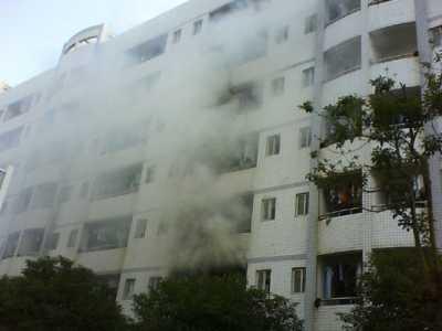 长沙中南大学南校区一寝室火灾现场 中南大学火灾