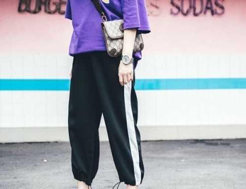 嘻哈风运动裤女生要怎幺 运动收口裤如何搭配
