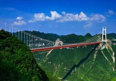 湘西一景——矮寨大桥 湘西矮寨大桥