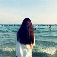 海边女生背影唯美伤感头像 女生背影海边