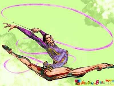 艺术体操的比赛分类 运动比赛绘画
