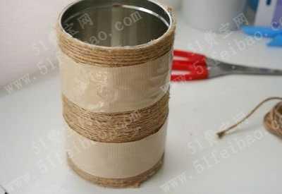 奶粉罐改造家常装饰花瓶简单教程 简单物品的装饰改造
