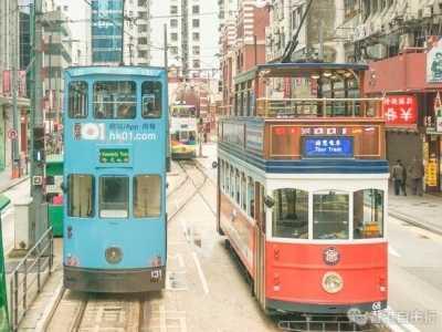 香港旅行实拍港岛叮叮车附详细时刻表、路线图 香港有轨电车英语